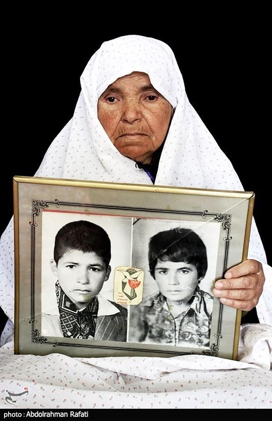 معصومه طاهری مادر شهیدان حجت الله و ولی الله جعفری