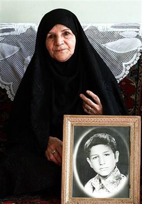 قزبس برقراری مادر شهیدان محمد و حسن قاسمی