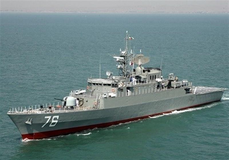"""الحاق شناور تمام عیار و قدرتمند """"دنا"""" به نیروی دریایی ارتش / نهنگ دفاعی ایران وارد دریا میشود + فیلم"""