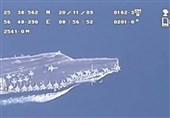 تصاویر پهپاد سپاه از ناو هواپیمابر آمریکا در خلیج فارس+فیلم