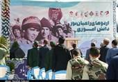 آیین افتتاح اردوهای راهیان نور دانش آموزی در جوار مزار شهید سلیمانی برگزار شد