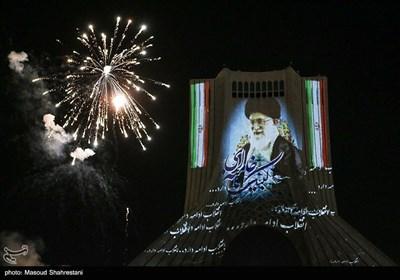 مراسم نورافشانی سالگرد پیروزی انقلاب اسلامی در میدان آزادی