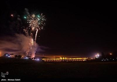 مراسم نورافشانی سالگرد پیروزی انقلاب اسلامی در اصفهان