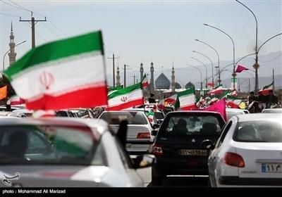 مسیرات ذکرى انتصار الثورة الاسلامیة فی أنحاء إیران