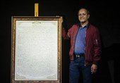 خوشنویس وصیتنامه شهید سلیمانی: با مرکب عشق کتابت کردم