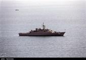 تمرین تیراندازی شبانه به اهداف هوایی در رزمایش ایران و روسیه