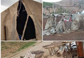 وزش شدید باد به بخشهایی از شهرستان چوار خسارت وارد کرد
