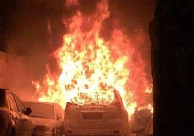 کرانه باختری  شهرکنشینان صهیونیست یک خودروی فلسطینی را به آتش کشیدند