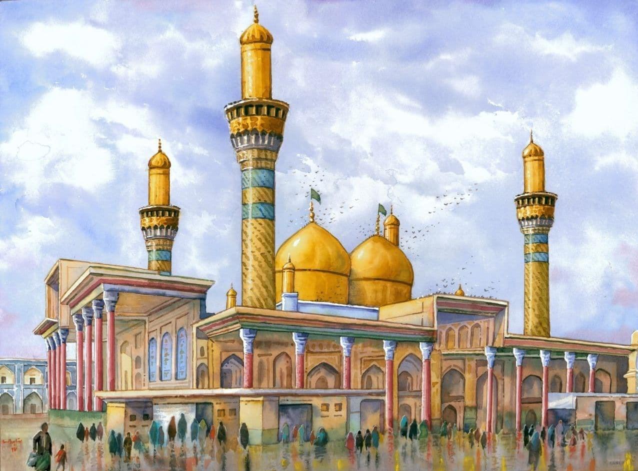 هنرهای تجسمی , نقاشی , نگارگری , امام جواد (ع) | امام محمد تقی (ع) ,