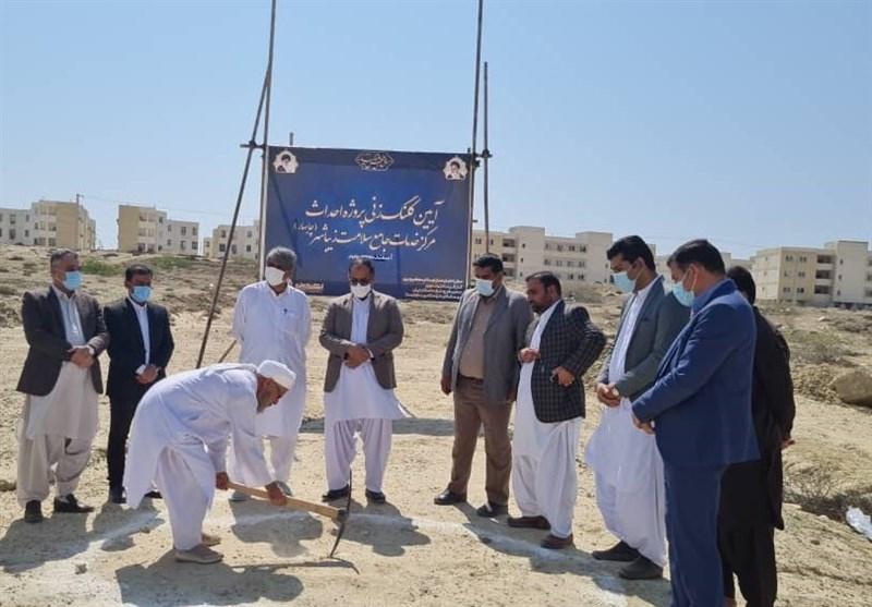 کلنگ ساخت مراکز جامع سلامت حاشیه شهر چابهار به زمین زده شد