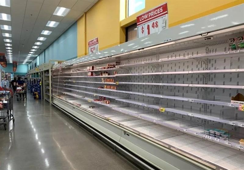 پس از کرونا، سرمای شدید هم قفسه فروشگاههای مواد غذایی آمریکا را خالی کرد+تصاویر