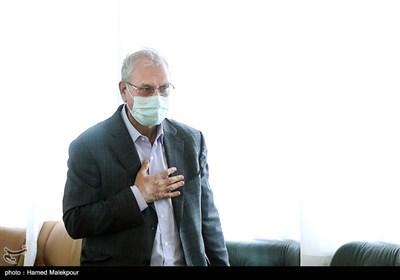 ورود علی ربیعی سخنگوی دولت به محل نشست خبری