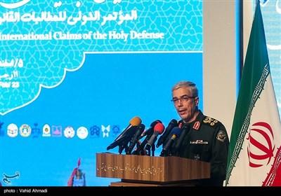 سخنرانی سرلشکر محمد باقری رئیس ستاد کل نیروهای مسلح در همایش مطالبات حقوقی بینالمللی دفاع مقدس