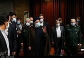 آیتالله سید ابراهیم رئیسی رئیس قوه قضائیه در همایش مطالبات حقوقی بینالمللی دفاع مقدس