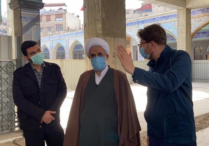 بازدید نماینده ولیفقیه در سوریه از بازسازی حرم حضرت زینب + عکس