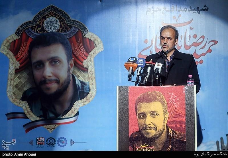 سخنرانی پدر شهید باب الخانی در سالگرد شهید مدافع حرم حمیدرضا بابالخانی