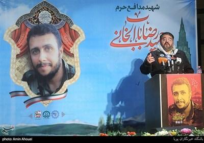 سردار غلامرضا جلالی در سالگرد شهید مدافع حرم حمیدرضا بابالخانی