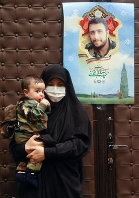 همسر و فرزند شهید حمیدرضا باب الخانی