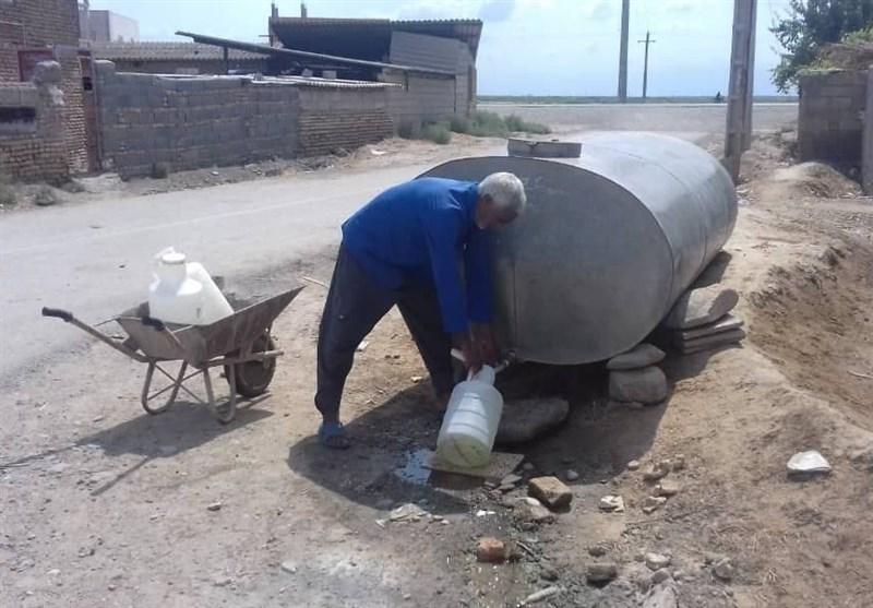 """مصائب اهالی روستای """" گوکتپه"""" آققلا /بیآبی در روزهای زمستانی هم دست از سر مردم برنمیدارد + فیلم"""
