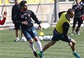 تمرین 50 دقیقهای پرسپولیسیها در ورزشگاه شهید کاظمی