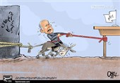 کاریکاتور/ بایدن تحریمهای اساسی علیه ایران را لغو نمیکند / دشواریهای بایدن برای لغو سریع تحریمهای ایران