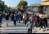 شهر بوشهر با ورود 2 شهید گمنام معطر شد + تصاویر