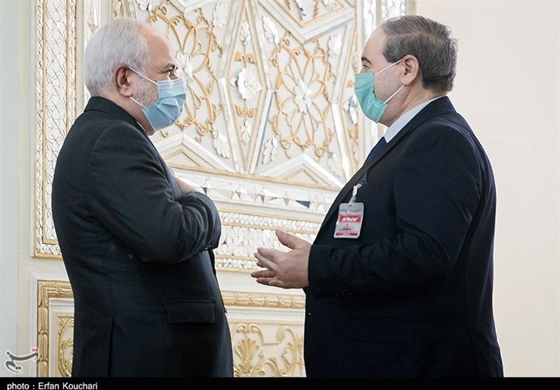 Zarif Reaffirms Iran's Support for Syria in War on Terror