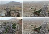 صنعاء تشهد حشدًا جماهیریًا کبیرًا رفضًا لحصار التحالف الأمریکی على الشعب الیمنی