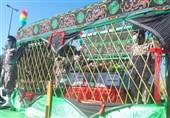 شهید گمنام دفاع مقدس در شهرستان دیلم استان بوشهر تشییع شد