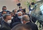 کامیون تازه ایرانی وارد خط تولید شد / افتتاح 3 کارگاه تولیدی با حضور وزیر صنعت