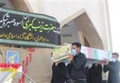 شهید گمنام دفاع مقدس در برازجان تشییع و خاکسپاری شد