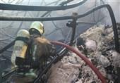 آتشسوزی گسترده در انبار پنبه + فیلم و تصاویر