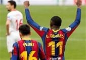 لالیگا| سبقت بارسلونا از رئال مادرید با غلبه بر سویا