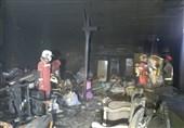 آتشسوزی کارگاه مبلسازی در مجتمع مسکونی + فیلم و تصاویر