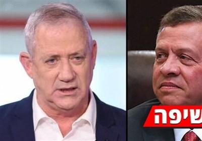 دیدار مخفیانه وزیر جنگ رژیم صهیونیستی با پادشاه اردن