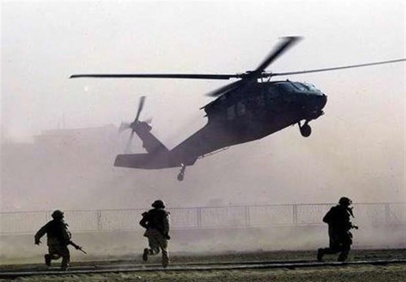 پرواز گسترده بالگردها و پهپادهای آمریکایی بر فراز مناطق غربی عراق