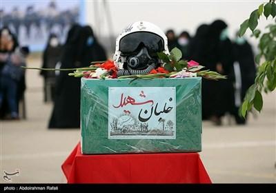 مراسم تشییع پیکر خلبان شهید بیرجند بیک محمدی در پایگاه سوم شکاری شهید نوژه همدان