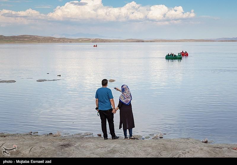 وسعت دریاچه ارومیه 100 کیلومترمربع کاهش یافت
