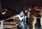 تصادف شدید 2 خودروی سواری در قزوین یک کشته و 6 مصدوم بر جای گذاشت