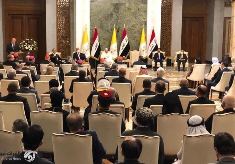 البابا: خلال العقود الماضیة عانى العراق من آفة الحروب والإرهاب
