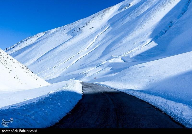 بارش برف در ارتفاعات الیگودرز - لرستان