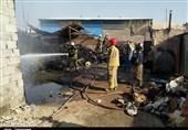 کارگاه صنعتی در جنوب تهران طعمه حریق شد