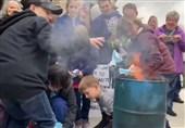 فیلم// تشویق کودکان آمریکایی به سوزاندن ماسک!