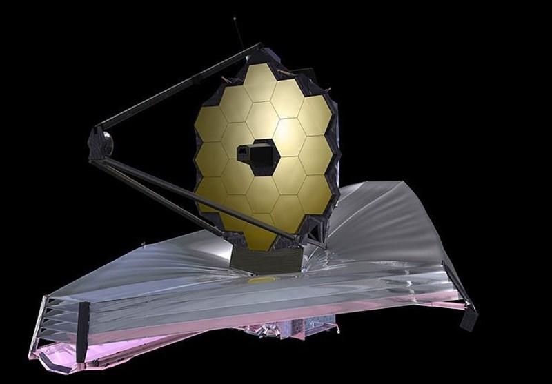 """نصب آفتابگیر بر روی تلسکوپ فضایی """"جیمز وب"""" ناسا + تصاویر"""