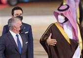 پادشاه اردن با استقبال ولیعهد سعودی وارد ریاض شد