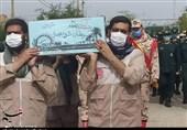 خاکسپاری شهید گمنام از دوران دفاع مقدس در اندیمشک+تصاویر
