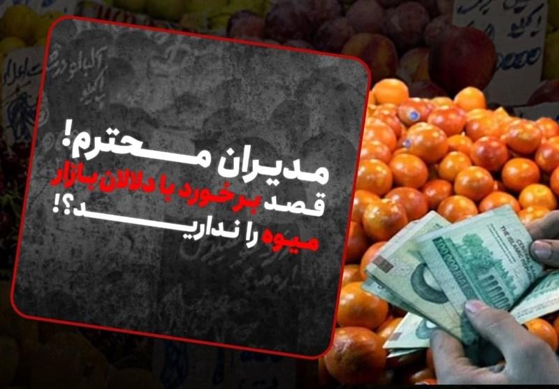 فیلم | مدیران محترم! قصد برخورد با دلالان بازار میوه را ندارید؟!