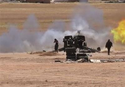 نبرد سنگین ارتش سوریه با داعش در صحرای دیرالزور