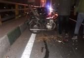 فرار پژو 206 پس از تصادف با راکب معلول موتورسیکلت+ تصاویر