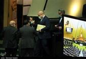 محمدباقر قالیباف رئیس مجلس شورای اسلامی در جلسه علنی مجلس